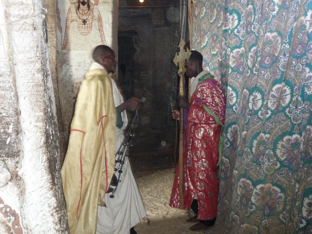 Une cérémonie à Abba Yohannis