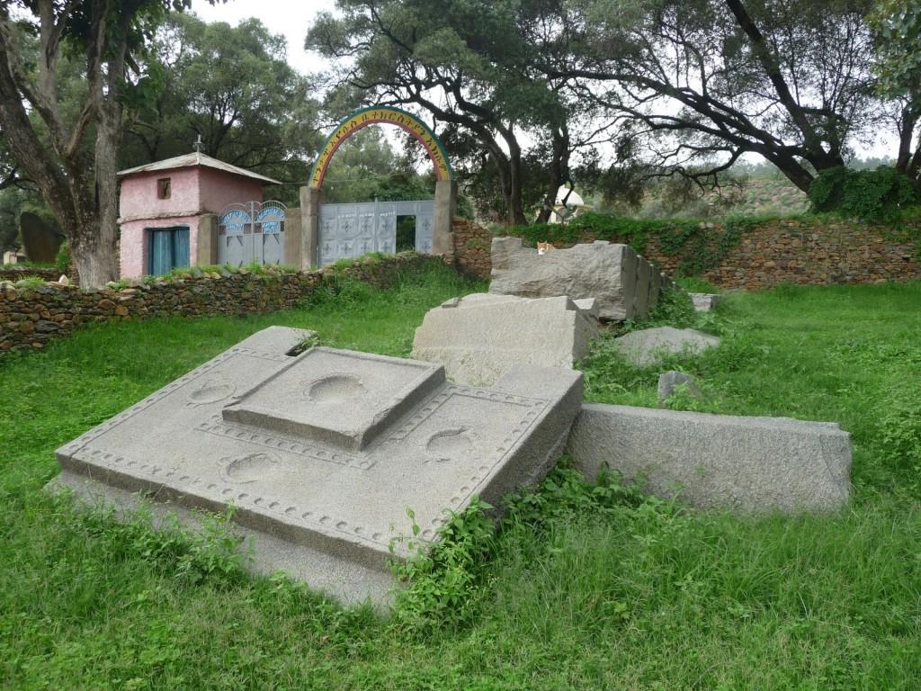 Un chat dans les ruines d'Aksum