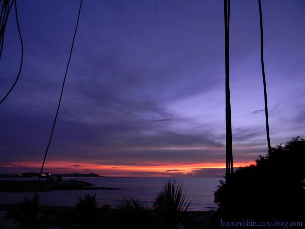 Un coucher de soleil à Conakry