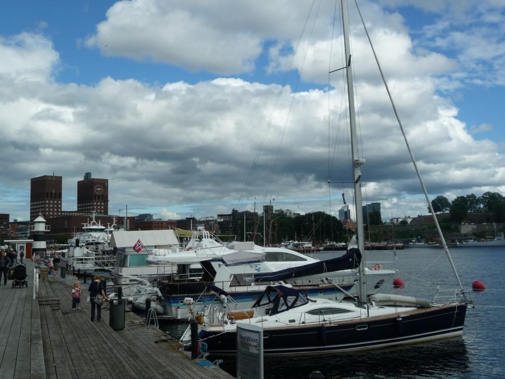 Vue depuis le port d'Oslo