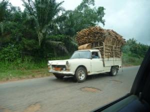 Un camion sur la portion béninoise
