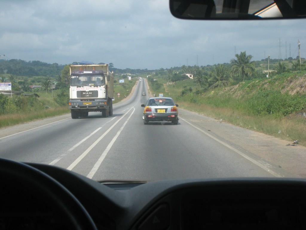 La section ghanéenne entre Accra et la frontière Togolaise