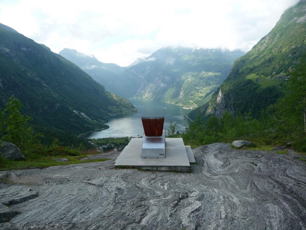 Un fauteuil avec vue sur le Geirangerfjord !