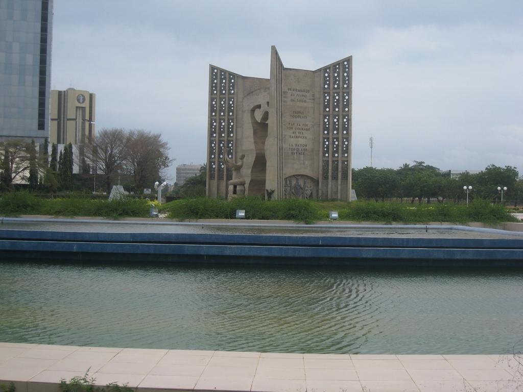 La place de l'Indépendance à Lomé
