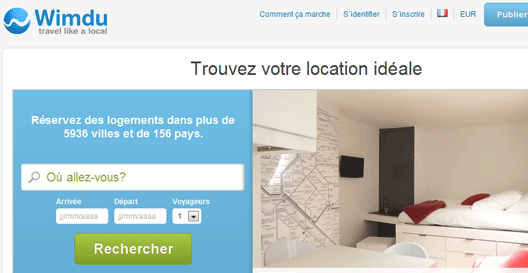 Wimdu, site de location d'appartements