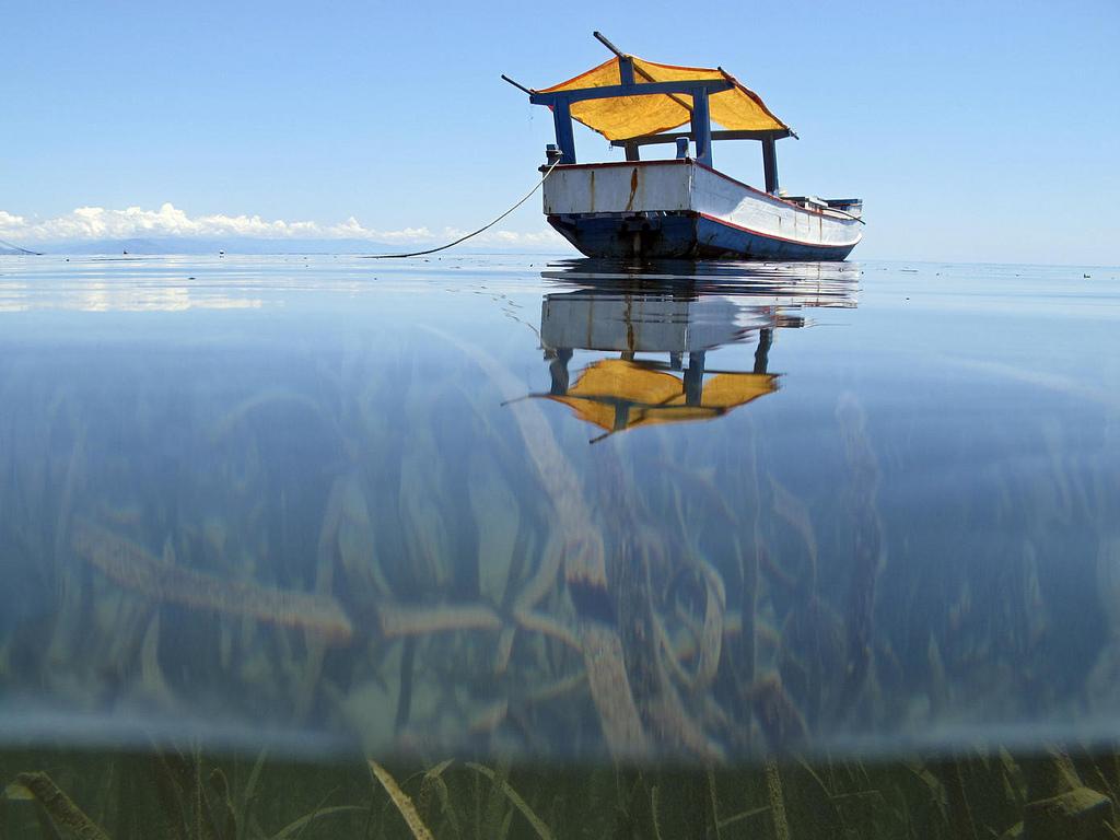 Un bâteau de pêcheur au large de l'île Autaro