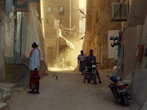 Une rue dans Sanaa par Martin Sojka