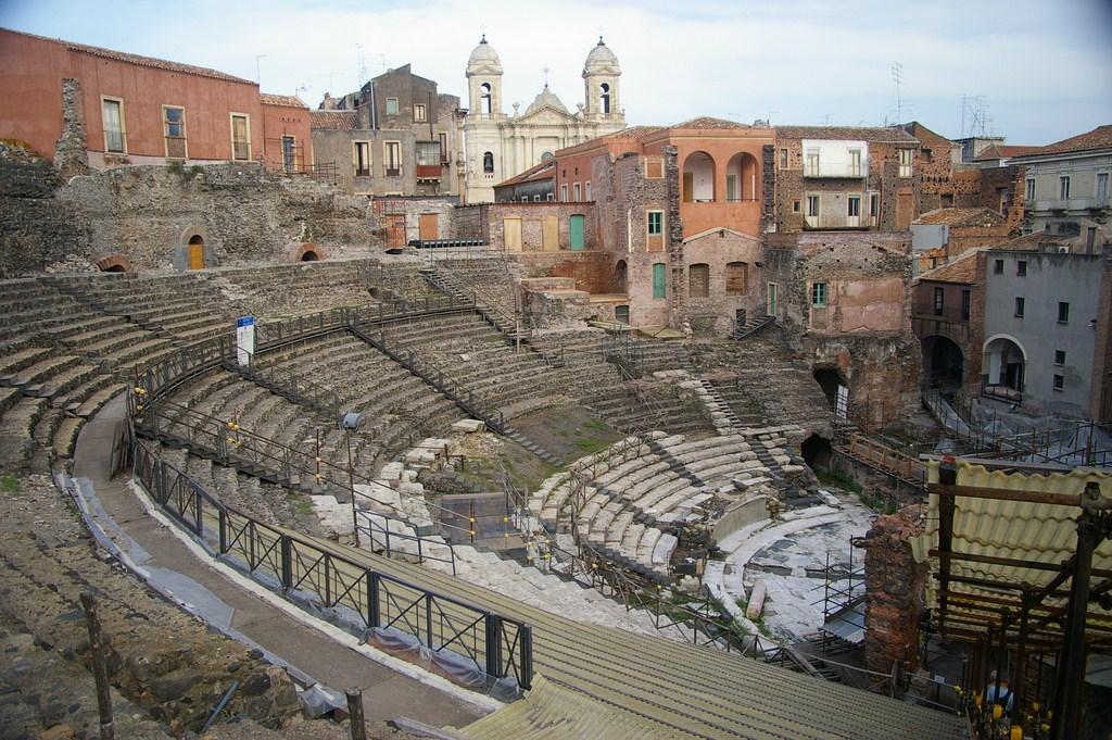 Le théâtre romain de Catania