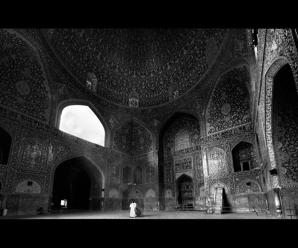 L'intérieur d'une mosquée à Isfahan