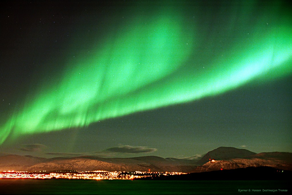 Une aurore boréale à Tromso