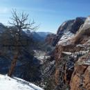 Le promontoire Angel's Landing au Zion National Park