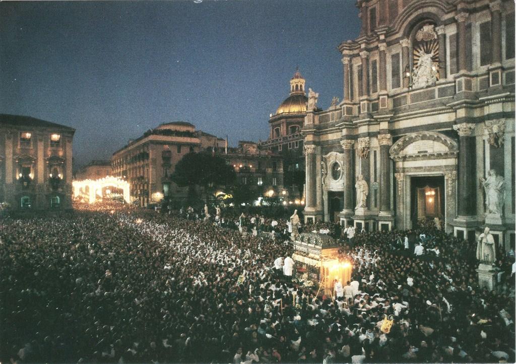 Une fête religieuse à Catania