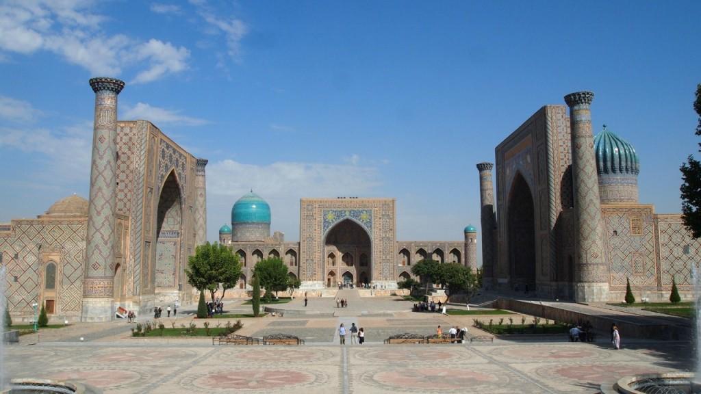 Le Registan, principale place de Samarkand