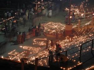 Une cérémonie rituelle à Bénarès