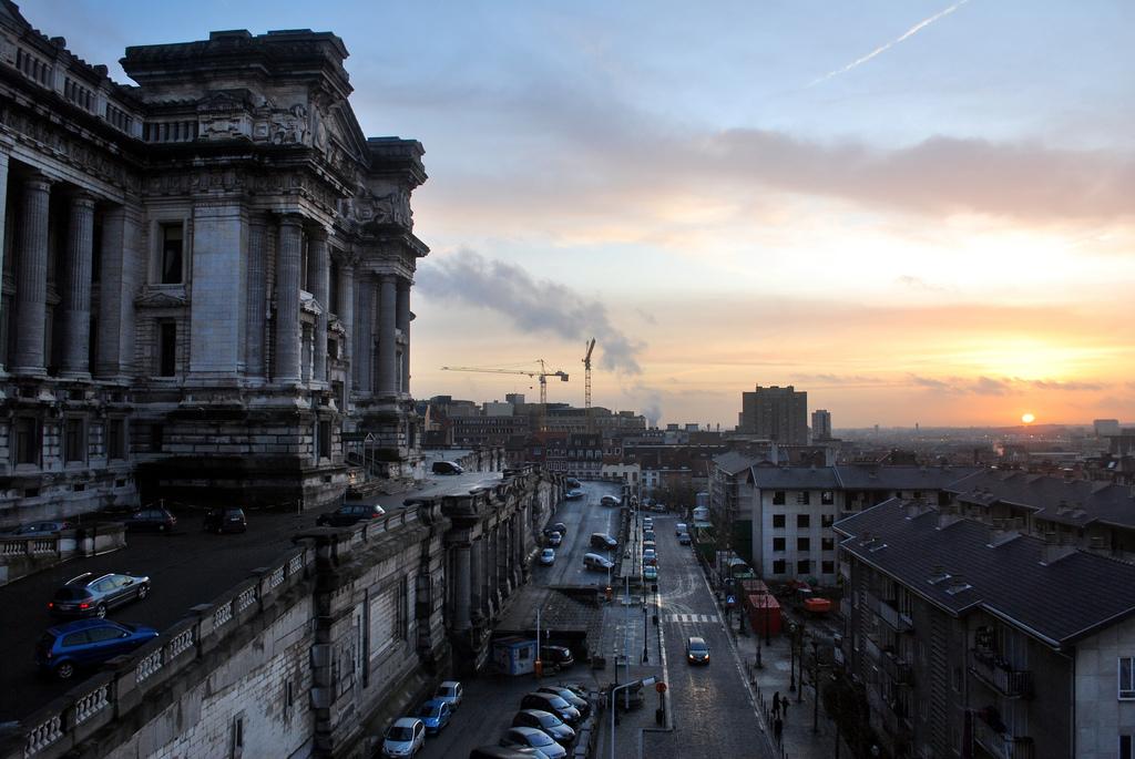 coucher de soleil sur Bruxelles