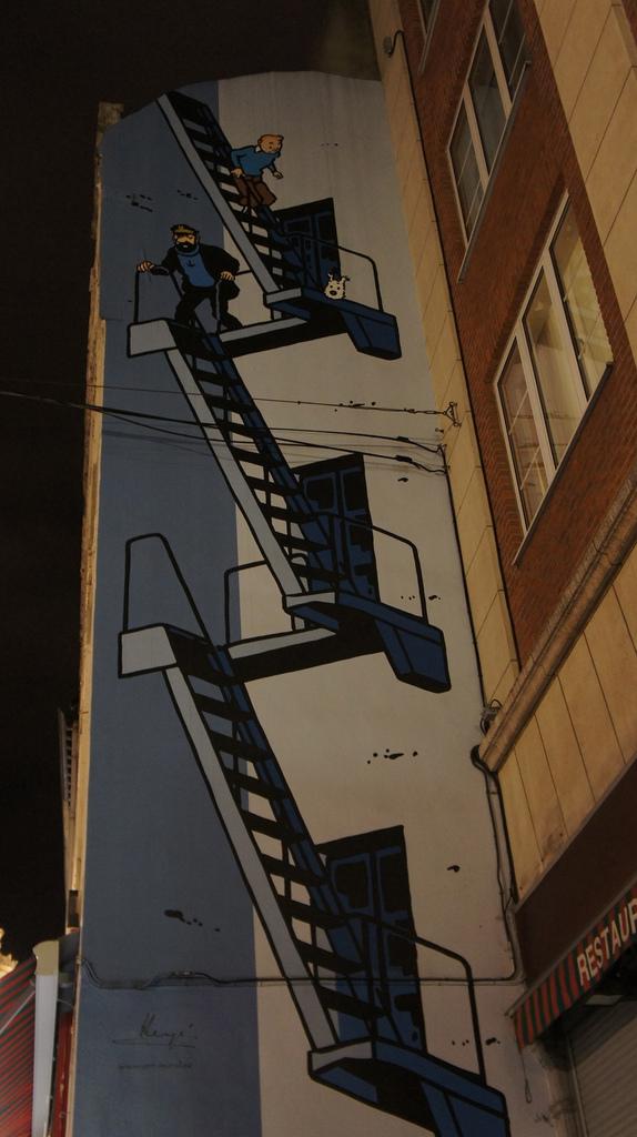 mur des bandes dessinnées voyage à Bruxelles