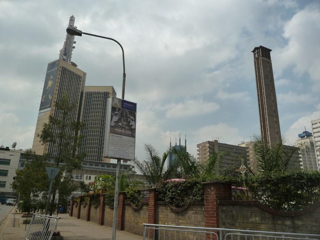 Le centre-ville de Nairobi