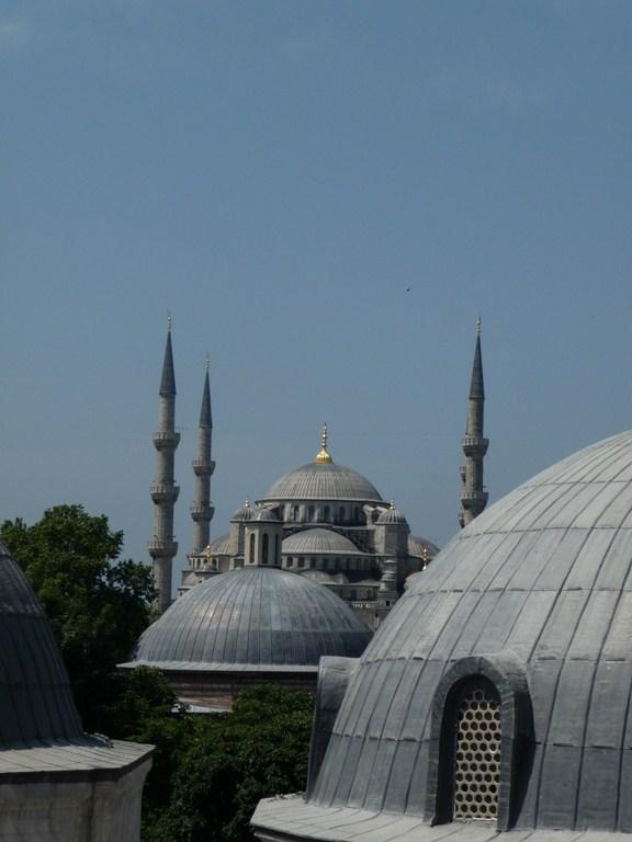 La Mosquée Bleue vue depuis Hagia Sofia