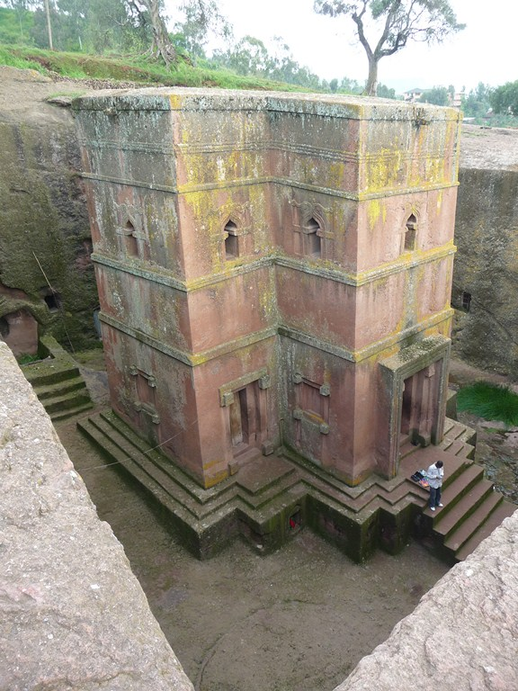 L'Eglise Beta Georges à Lalibela